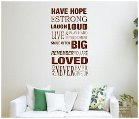 Wall Sticker (Have hope,Surface Covering Area - 30 x 55 cm)