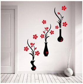 Decor Kafe Flower Pots Wall Decal