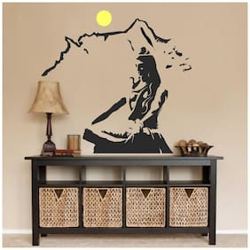 Wall Stickers Lord Shiva Meditating on Kailash Mountain