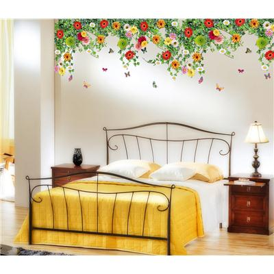 Wall Stickers Bed Room Backdrop Hanging Realistic Daisy Flowers Falling  From Ceiling Border Decoration Vinyl