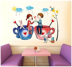 Wall Stickers for Bedroom Love Word for Valentines Day Romantic Decor with Beads Garland Backdrop