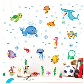Wall Sticker Animated Ocean Creatures