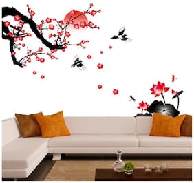 Wall Stickers Wall Decals Living Room Blossoms and Sunset