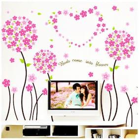 Wall Stickers Wall Decals Pink Pandora Flowers Border Design