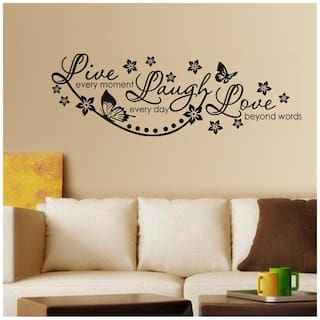WallTola Wall Decals Live Laugh and Love Wall Quote Family Wall Sticker