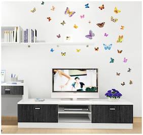Wall Sticker Butterfly Cute PVC Vinyl for Kids Room