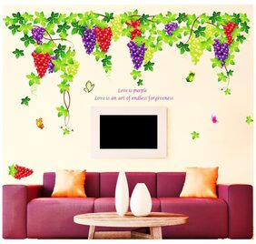 Wall Stickers Wall Decals Living Room Grapevine Design with Quote