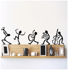 Wall Stickers Musical Instruments Happy Band Living Room