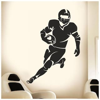 Wall Wings Active US Football Player Wall Sticker