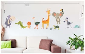 Wall Wings Animals Park Wall Sticker/Stickers