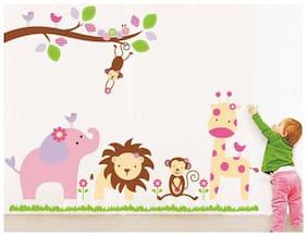 Wall Wings Baby Cartoon Animal Kingdom Kids Room Wall Sticker