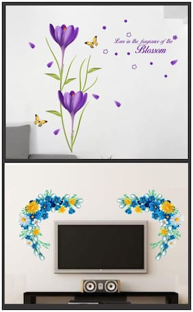 Wall wings Blossom of flower with LCDFloral