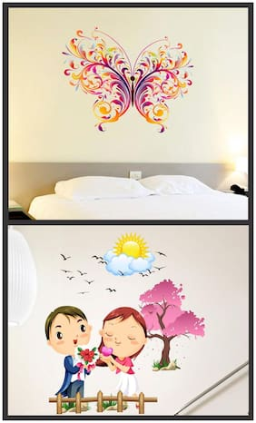 Wall wings Butterfly with cute couples