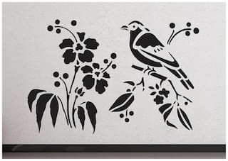 wall wings Bird sitting on the branches Nature Nature PVC  Sticker