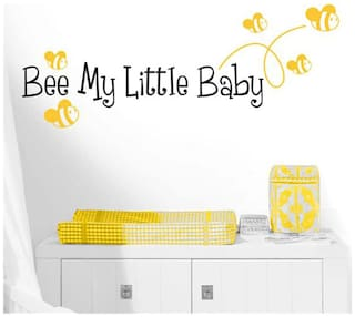 Wall Wings Bee My Little Baby Pharse With Bumble Bee (Honey Bee) In Yellow Room D cor Wall Sticker/Decals (2021)