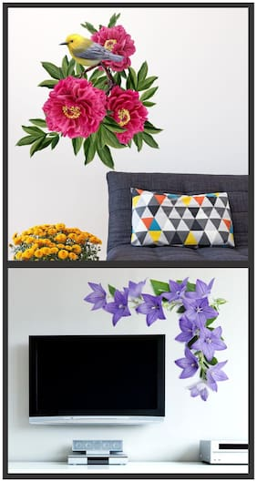 Wall wings Bunch of flower with  LCDfloral
