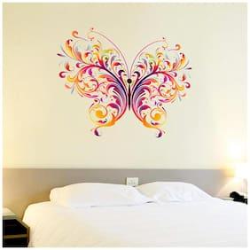 Wall Wings Butterfly Vector/Abstract Art For Fridge Glass Door Wardrobe room Wood Doors Temple Pooja Room Wall Sticker/Decal (6612)