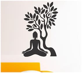 wall wings Buddha under tree Religious & Inspirational Religious & Inspirational PVC  Sticker