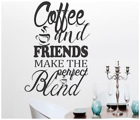 wall wings Coffee and friends wall quotes Motivational/Quotes Motivational/Quotes PVC  Sticker
