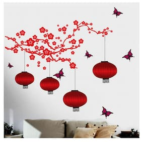 Wall Wings Printed Sticker Set Of 1