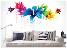 wall wings Colourful flowers Nature Nature PVC  Sticker