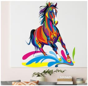 wall wings Colorful Horse Animals Animals PVC  Sticker