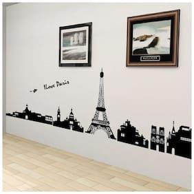 Wall Wings Eiffel Tower Paris Wall Sticker