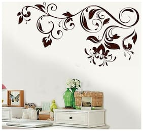 Wall Wings Floral Vines In Henna Pattern Vector Art Wall Sticker