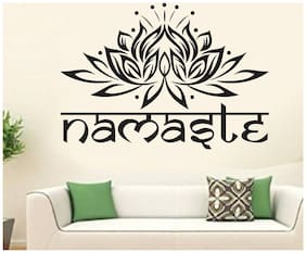 wall wings Flower with Namaste Abstract Abstract PVC  Sticker