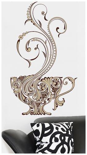 Wall Wings Floral Vines Cup Vector Art - Modern Art Wall Sticker/Decals (6429)