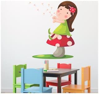 wall wings Girl on mushroombuds Cartoon Characters Cartoon Characters PVC  Sticker