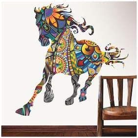 Wall Wings Good Luck Mural Art Horse Sticker/Decals (6943)