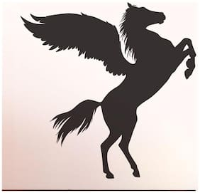 Wall Wings Good Luck Pegasus Horse With Wings Silhouette Wall Sticker/Decals (6956)