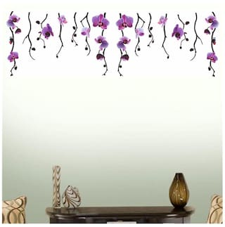 f7b33d6b2a Wall Wings Hanging Purple Flower Vines With Purple Floral Blooms For Wall  Top Border Abstract Art