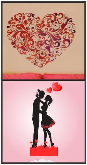 Wall wings Heart floral with Couples