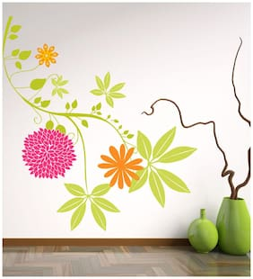 Wall Wings Hanging green leaves Wall Sticker/Stickers