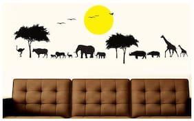 Wall Wings Jungle Safari Silhouette Wall Sticker