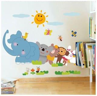 Wall Wings Kids Room Animals Funny Animation Cartoon Wall Sticker