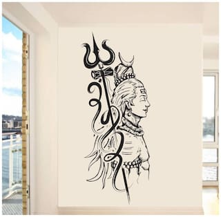 wall wings Lord shiva Religious & Inspirational Religious & Inspirational PVC  Sticker