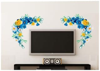 wall wings Lcd floral  Floral Floral PVC  Sticker