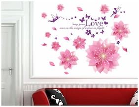 wall wings Love in Flowers Floral Floral PVC  Sticker