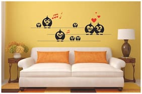 Wall Wings Musical Cartoon Love Wall Sticker