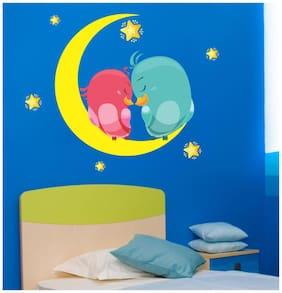 wall wings Moon Love of birds Romance & Love Romance & Love PVC  Sticker