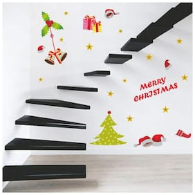 Wall Wings Merry Christmas Gifts, Bells, Christmas Tree Dcor Wall Sticker