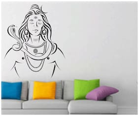 wall wings Peaceful lord shiva Religious & Inspirational Religious & Inspirational PVC  Sticker