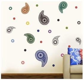 Wall Wings Paisley Pattern Design Wall Sticker