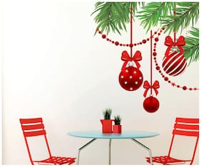Wall Wings Red bells on branches Wall Sticker/Stickers