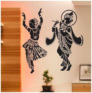 wall wings Radha Krishna Religious & Inspirational Religious & Inspirational PVC  Sticker