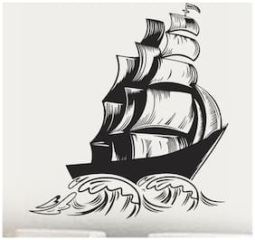 Wall Wings Sailing Ship On Ocean Waves With Sails Wall Sticker/Decals (5752)