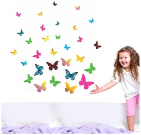 Wall Wings Swarm Of Colourful Butterflies Wall Sticker/Decals (6947)